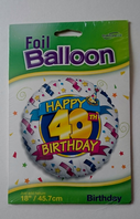 Large helium balloon with age selection (not filled) (Code 1366)